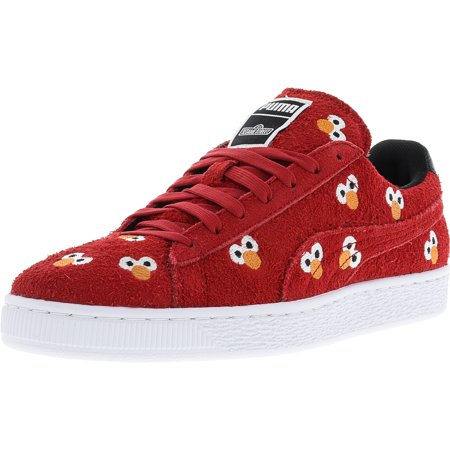 newest fe001 66744 Puma Men's X Sesame Street Suede High Risk Red Ankle-High Fashion Sneaker -  8.5M