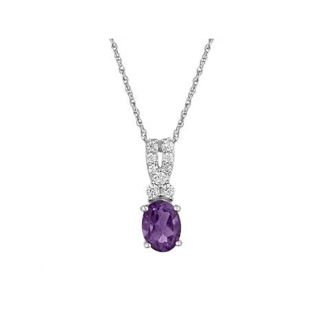 Brilliance Fine Jewelry Genuine Amethyst with CZ Accents