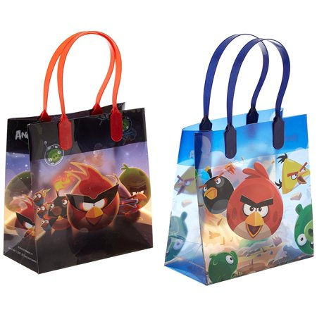 Angry Birds 12 Authentic Licensed Party Favor Reusable Medium Goodie Gift Bags - Angry Bird Party Favors