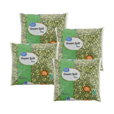 (4 Pack) Great Value Green Split Peas, 6 oz