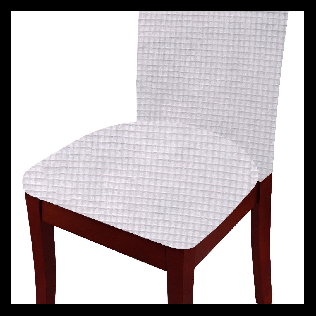 Fancy Linen 4pc Dining Chair Cover Set Waterproof Stretchable Solid Burgundy New by