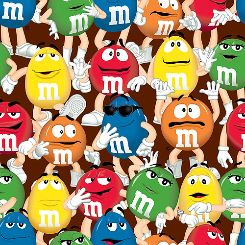 M&Ms Funfetti Packed Fabric