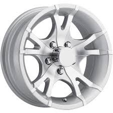 "13"" TRAILER STOCK UTILITY 5 LUG 5 SPOKE ALUMINUM WHEEL RIM T07-35545SM"