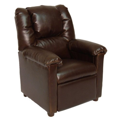 Brazil Furniture Lounger Child Recliner - Brown