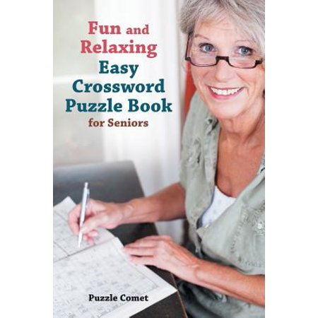 Fun and Relaxing Easy Crossword Puzzle Book for