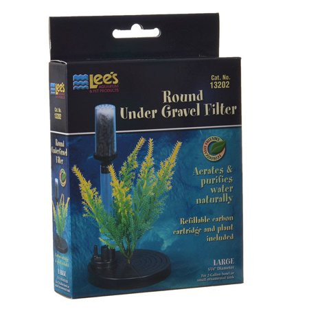 Lees Undergravel Filter - Lees Fishbowl Undergravel Filter 5.25 Diameter (2 Gallons) - Pack of 2