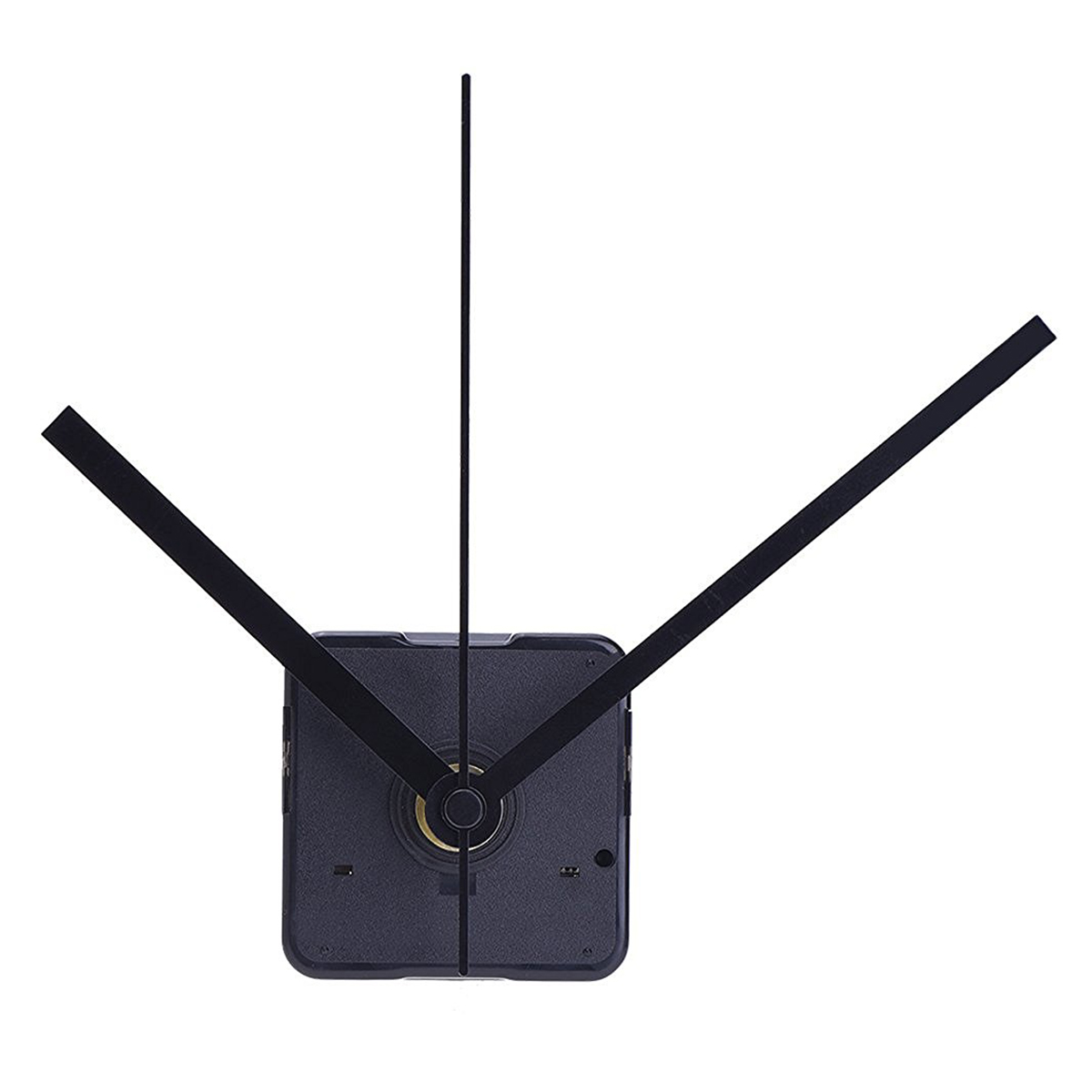 Silent Clock Movement Kits for DIY Clock Replacement (Black Straight Clock Hand) by