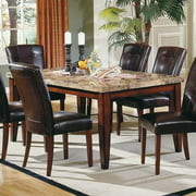 Steve Silver Company Montibello Rectangular Casual Dining Table in Rich Cherry