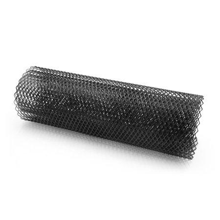 Car Black Aluminum Alloy Hexagon Front Bumper Grill Mesh Sheet 6 x 12mm