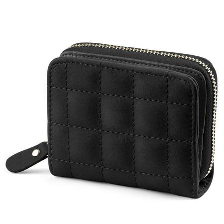 Credit Cards Zipper Card Holder Short Paragraph Wallet for Lady Black - image 1 of 1