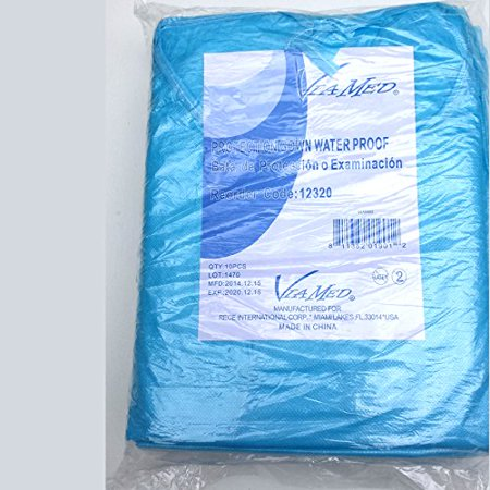 Cloth Exam Gowns (1 Coated Waterproof Disposable Non-woven Exam Gown With Sleeves Blue (1) )