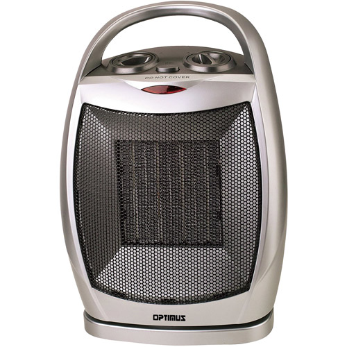 Optimus Electric Portable Oscillating Ceramic Heater with Thermostat,  HEOP7247