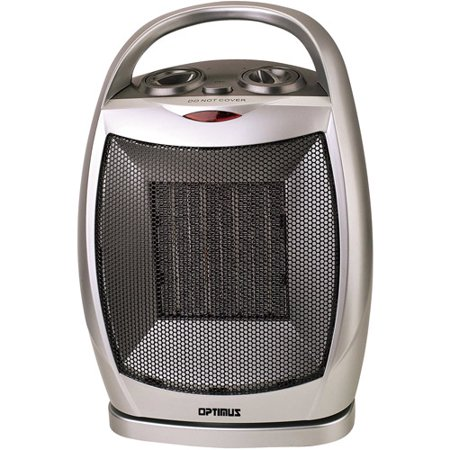 Optimus Electric Portable Oscillating Ceramic Heater With