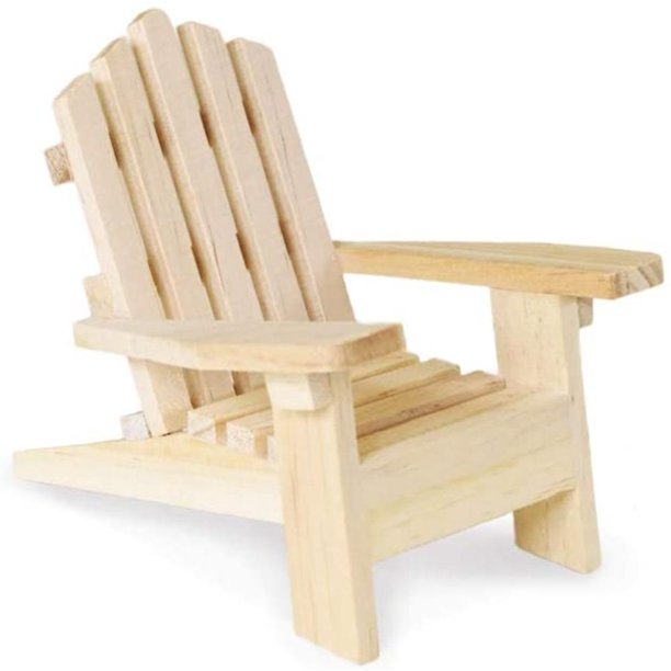 Inches Unpainted Wood Adirondack Chair, How To Make Miniature Outdoor Furniture