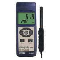 REED INSTRUMENTS Temperature Humidity Meter, LCD SD-3007