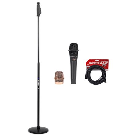 Blue Encore 200 Black Phantom Powered Dynamic Microphone+Round-Base Stand+Cable