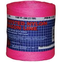 T.W. Evans Cordage 11-193 Mason Line, 150 lb Chalk, 1088 ft L Line, Pink Line