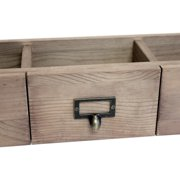 "Salvaged 3-Drawer Set 21""X6""X4.25""-Weathered Wood"