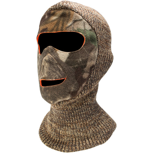 QuietWear Reversible Camo Facemask, Adventure Grey