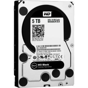 WD WD5001FZWX WD Black™ 5 TB 3.5-inch Performance Hard Drive - SATA - 7200 - 128 MB Buffer - Retail