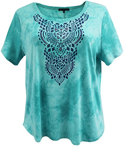 1X Ice Dyed Womens Blouse