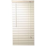Designer'S Touch 2-Inch Faux Wood Mini Blinds With Contemporary Valance, White, 24-1/2X48 In.