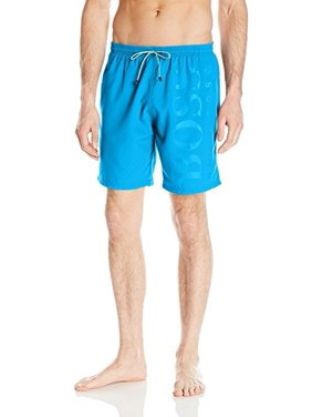 Hugo Boss Men's Orca Solid Swim Trunk Deep Turquoise Large