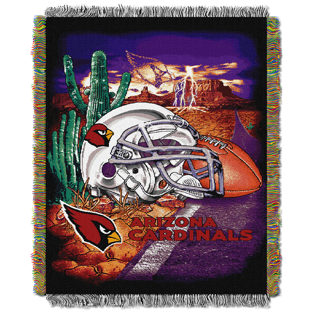 "Arizona Cardinals NFL Woven Tapestry Throw (Home Field Advantage) (48""x60"")"