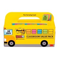 Deals on Post-it Super Sticky Notes, Bus Cabinet Pack 35 pads