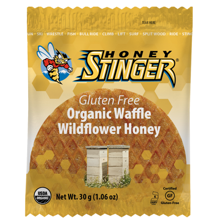 Honey Stinger Gluten Free Organic Energy Waffles, Wildflower Honey, 16 Ct