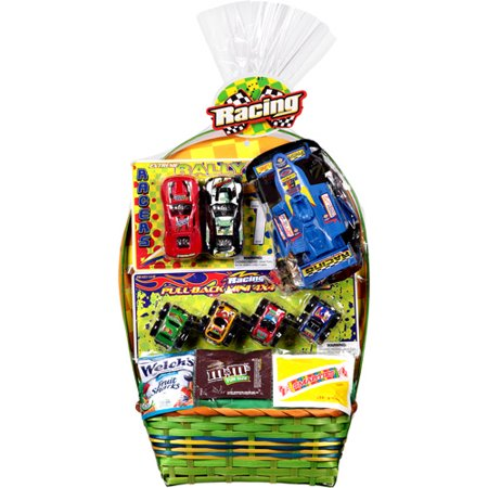 Formula one racing easter basket with toys and assorted candies formula one racing easter basket with toys and assorted candies negle Image collections