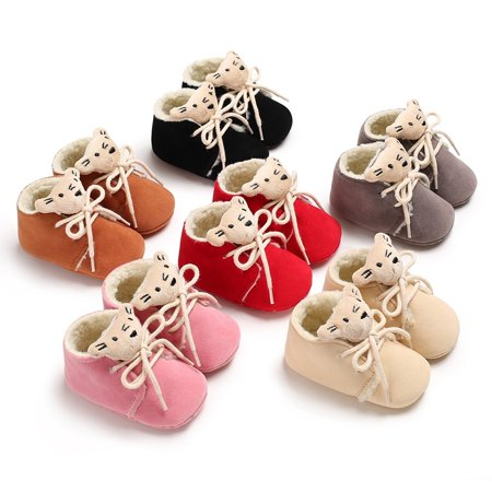 Winter Newborn Baby Cute Comfortable Non-slip Baby Boots flannelette walking shoes Sneakers 0-18 M