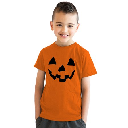 Painted Pumpkin Faces For Halloween (Youth Pumpkin Face T-Shirt Funny Halloween Shirt for)