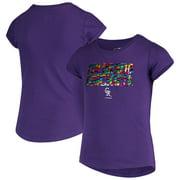 Colorado Rockies New Era Girls Youth Flip Sequin T-Shirt - Purple