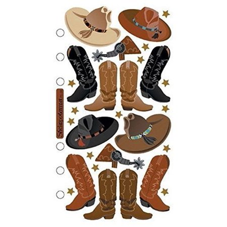 Stickopotamus Stickers Cowboy Hats and Boots (Style # Sp-pc-08) (Cowboy Hat And Boots)