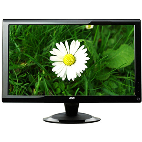 "AOC 24"" Widescreen LCD Monitor, 1920 x 1080, 60Hz, 5ms, Piano Black - 2436VW"
