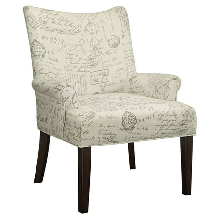 Coaster Company French Script Accent Chair, White