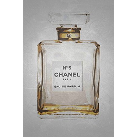 CANVAS Chanel No. 5 in Gold 12x18 Giclee Gallery Wrap Art Home Wall DecorMADE IN THE USACOMES READY TO HANGGEL COATED FOR CLASS & PROTECTION