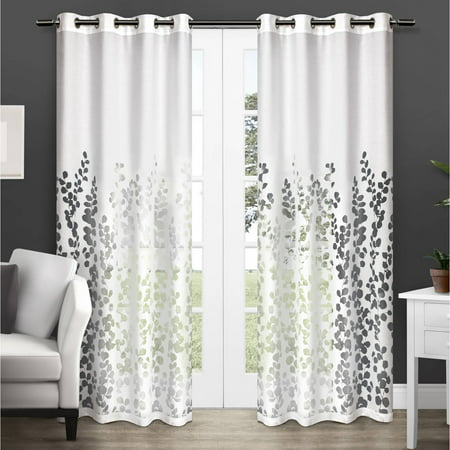 Exclusive Home Wilshire Burnout Sheer Window Curtain Panel Pair With Grommet Top