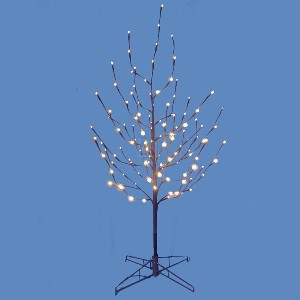 Kurt Adler 4' Twig Artificial Christmas Tree with LED White Lights