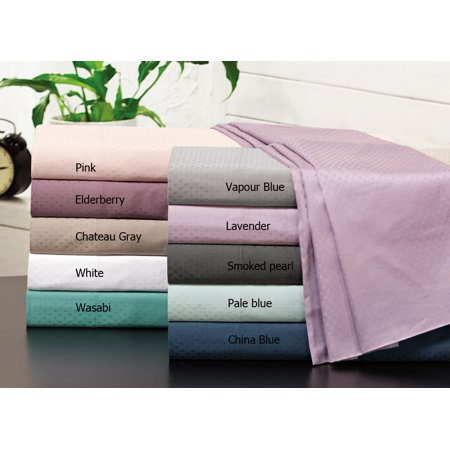 500 Thread Count 100% Cotton Check Dots Sheet Set