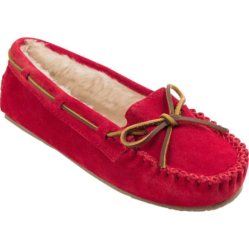 Minnetonka Womens Red Cally Suede Mocs by MINNETONKA