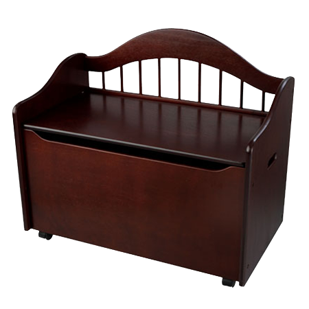 KidKraft Limited Edition Wooden Toy Box and Bench with Handles and Safety Hinges - Cherry - Chest Box
