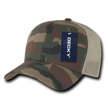 6823299f2c11c DECKY Camouflage Trucker Hats Hat Cap Caps Snapback Cotton Mesh For Men  Women Woodland Woodland Khaki - Walmart.com