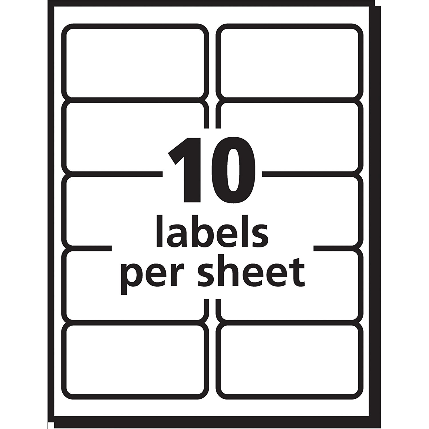 avery ecofriendly white 2 in x 4 in shipping address labels 25