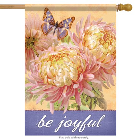 Be joyful floral spring house flag decorative flower - Discount tire garden of the gods ...