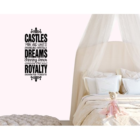 CASTLES DREAMS ROYALTY ~ WALL DECAL, HOME DECOR 13