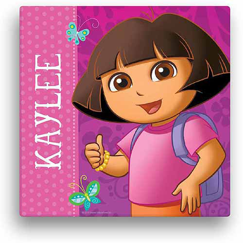 "Personalized Dora the Explorer 16"" x 16"" Canvas Wall Art"