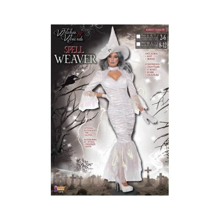 CO - SPELLWEAVER - XS/S (Girls White Witch Costume)