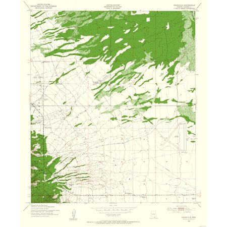 Topographic Map Arizona.Topographic Map Nicksville Arizona Quad Usgs 1952 23 X 27 91